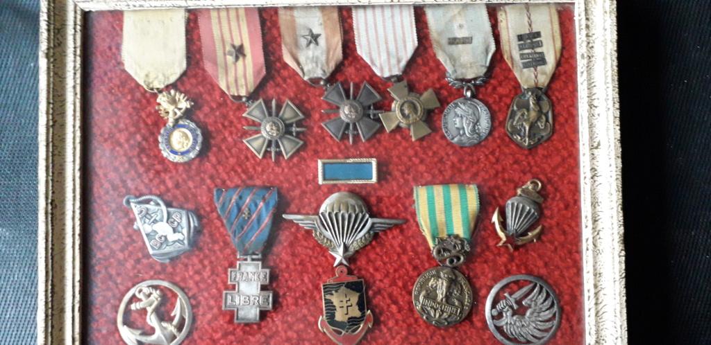 médailles d'André Koenig soldat de la 2ème DB  20190611
