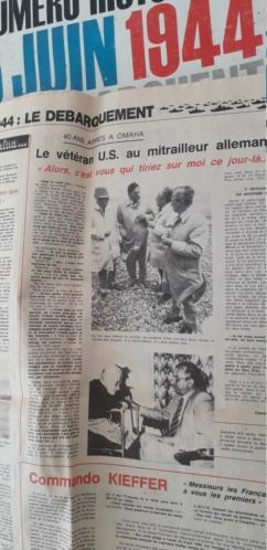 journaux commémoratif débarquement (1964 et 1984)  20200613