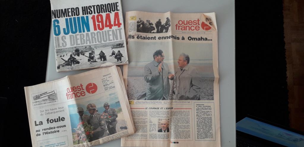 journaux commémoratif débarquement (1964 et 1984)  20200614