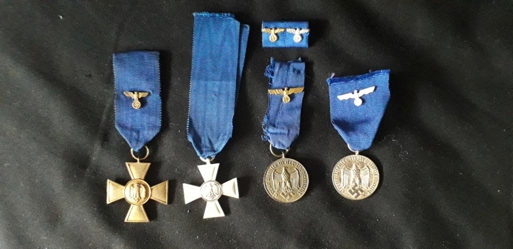 les quatres médailles de service long dans la wehrmacht/Heer 20200721