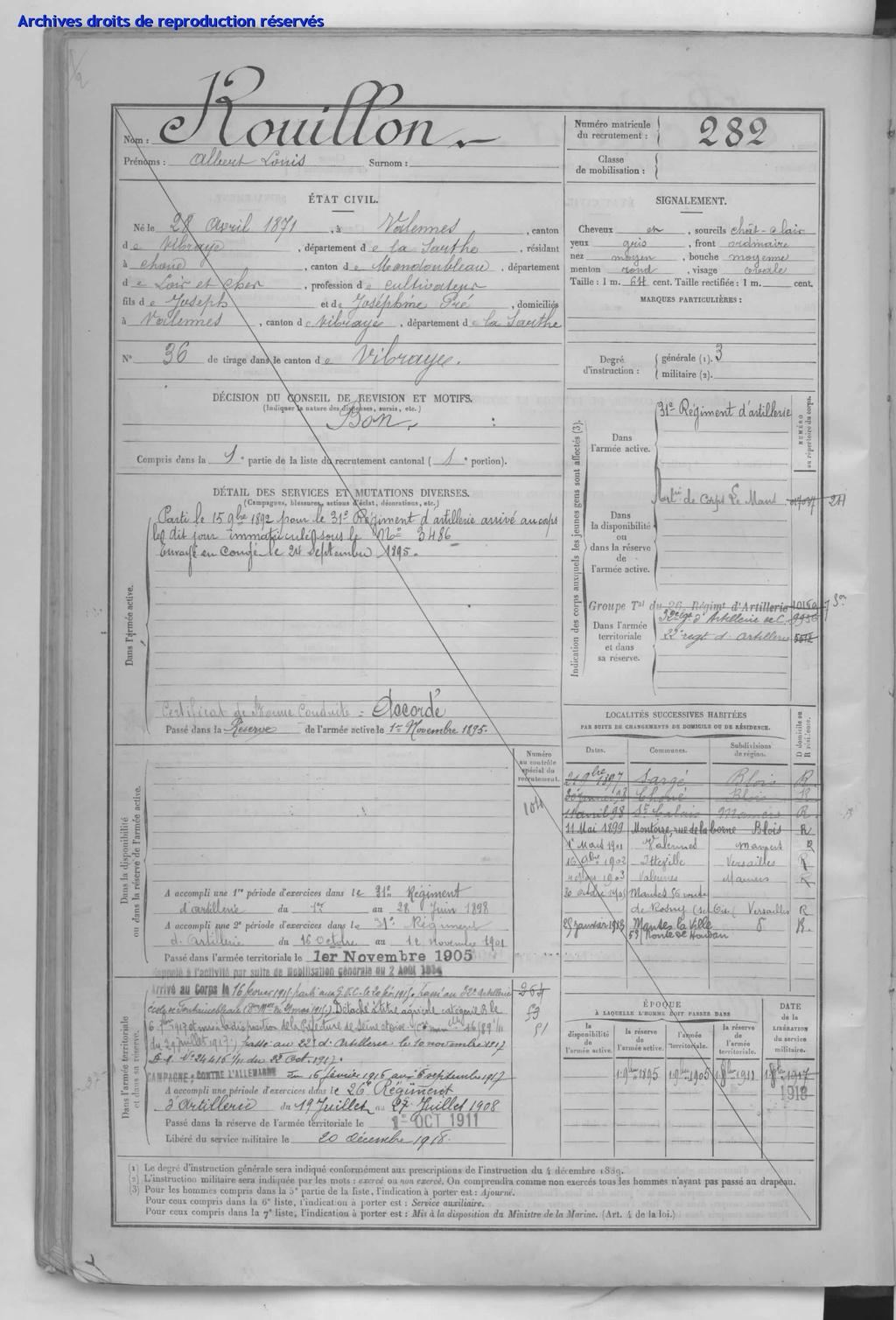 Le soldat Rouillon Léon Denis M à J du 21/12/20 Archiv10
