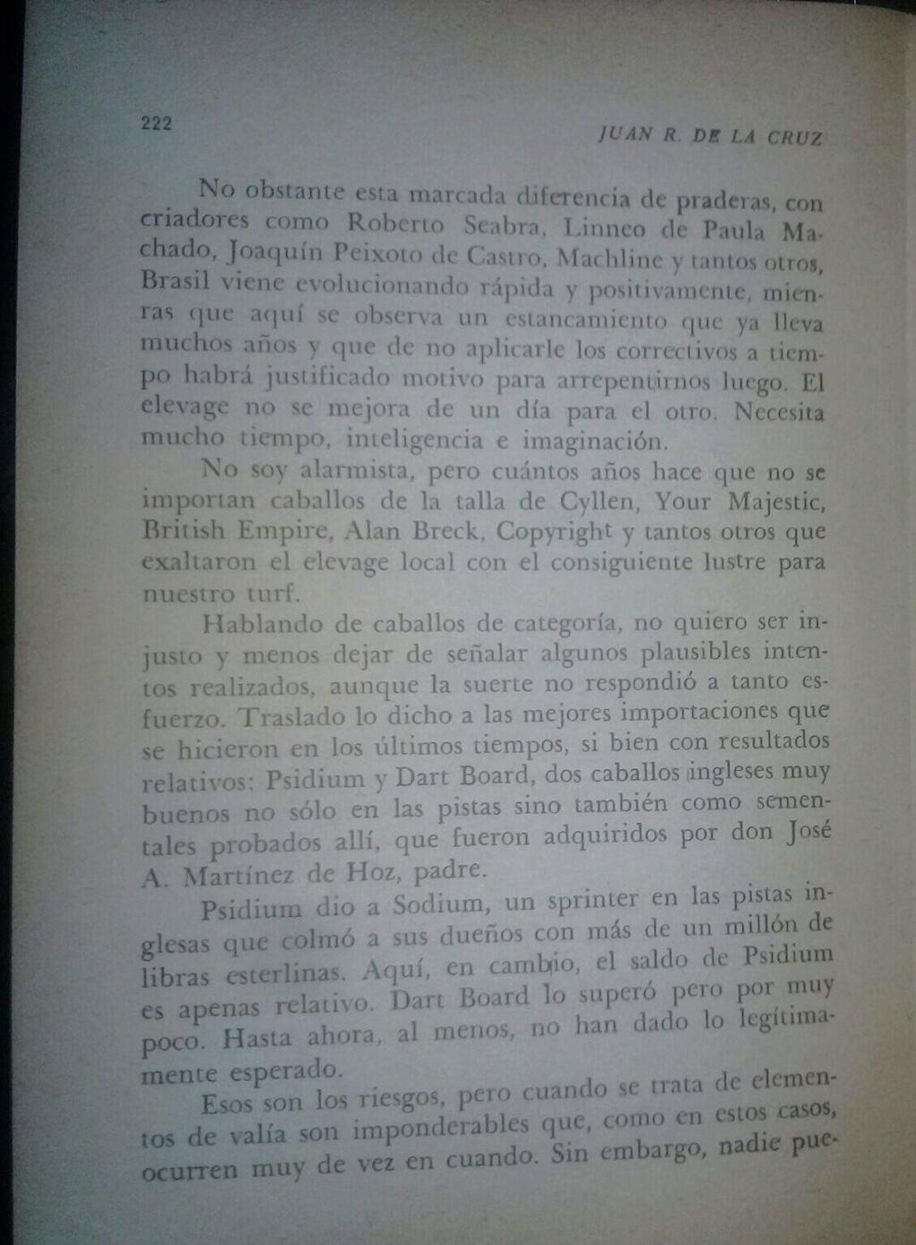 LIBRO EL TURF Y YO JUAN DE LA CRUZ 10d10