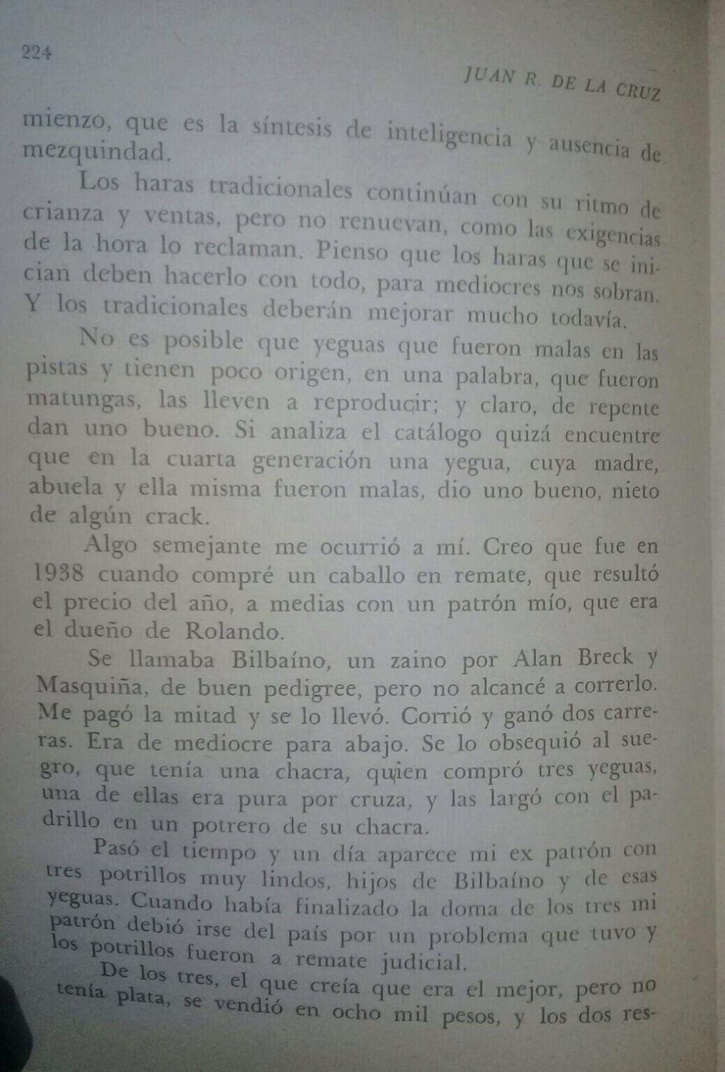 LIBRO EL TURF Y YO JUAN DE LA CRUZ 12d10