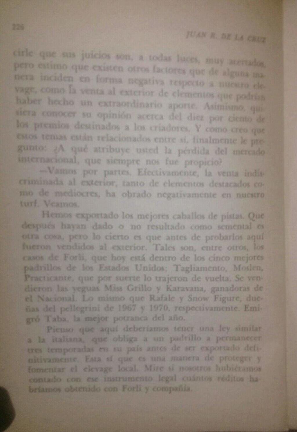 LIBRO EL TURF Y YO JUAN DE LA CRUZ 14d10
