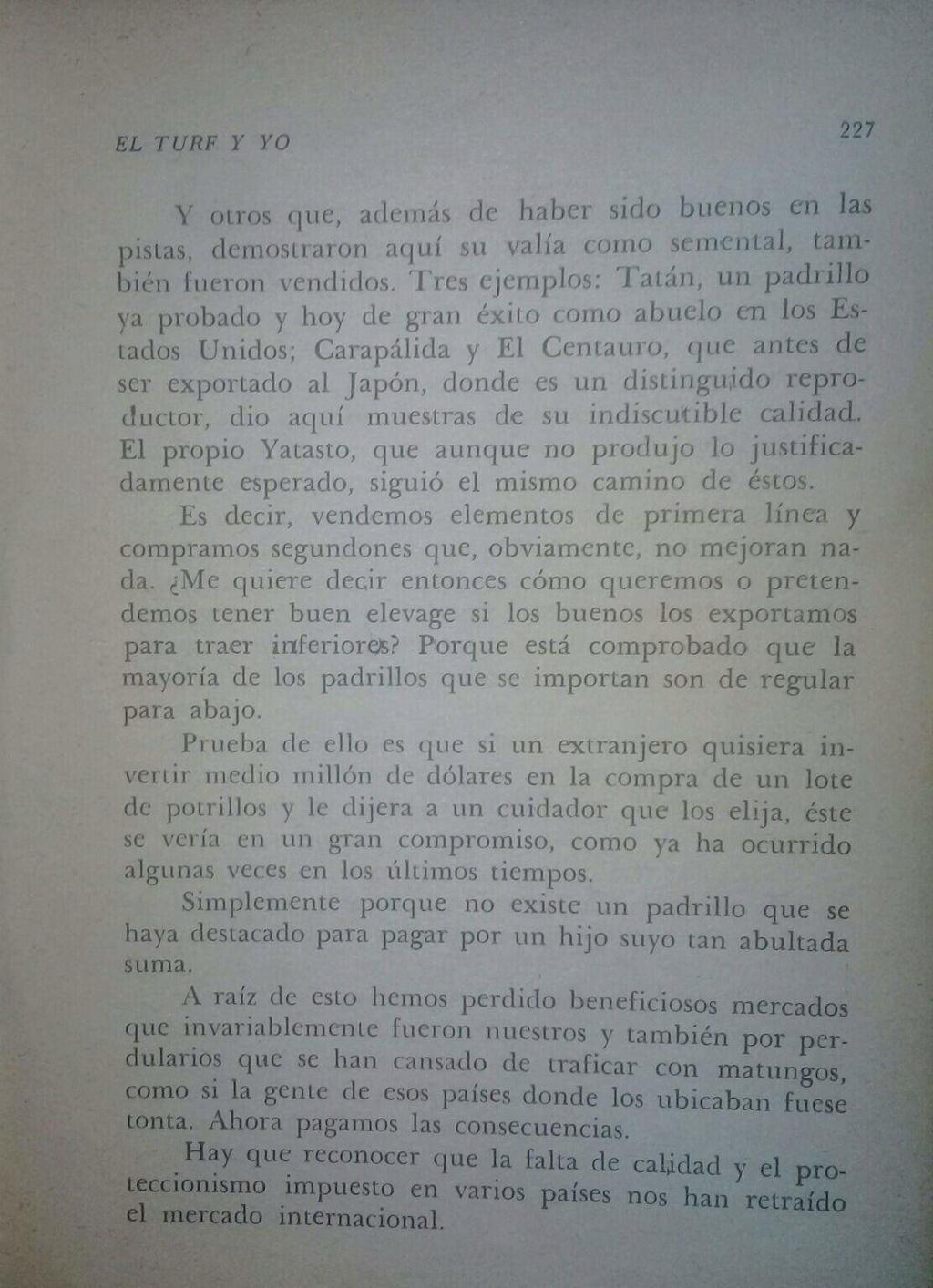 LIBRO EL TURF Y YO JUAN DE LA CRUZ 15d10