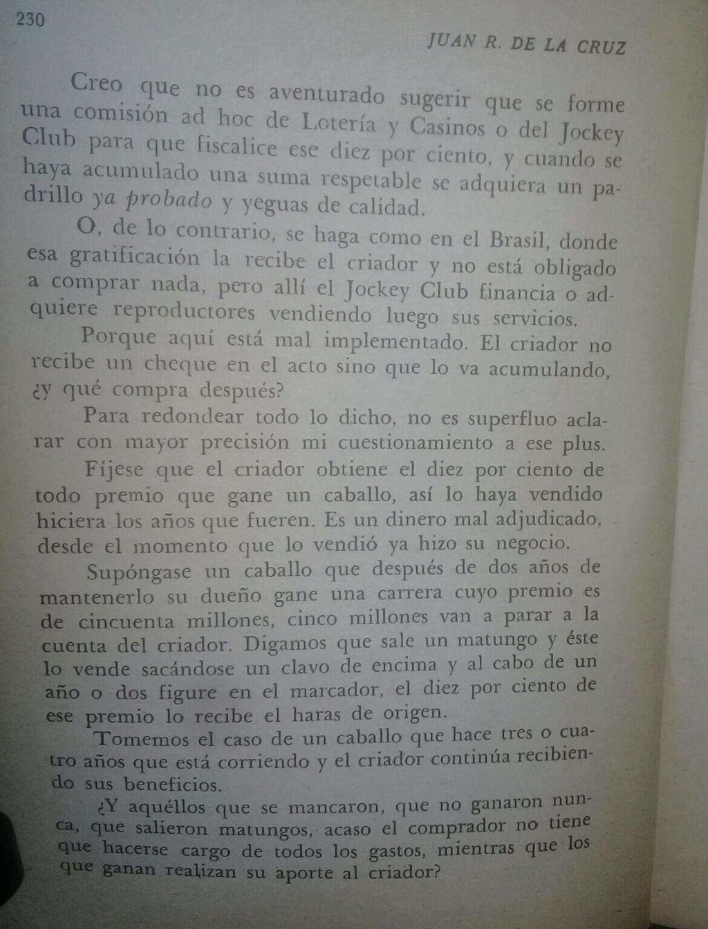 LIBRO EL TURF Y YO JUAN DE LA CRUZ 18d10