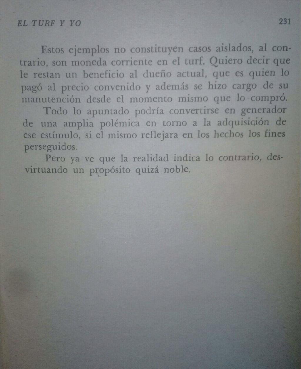 LIBRO EL TURF Y YO JUAN DE LA CRUZ 19d10
