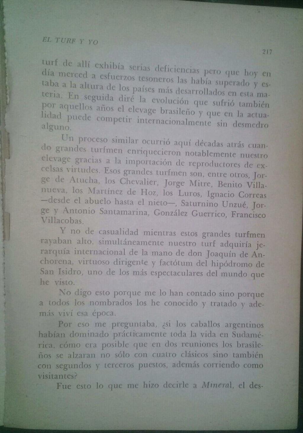 LIBRO EL TURF Y YO JUAN DE LA CRUZ 5d11