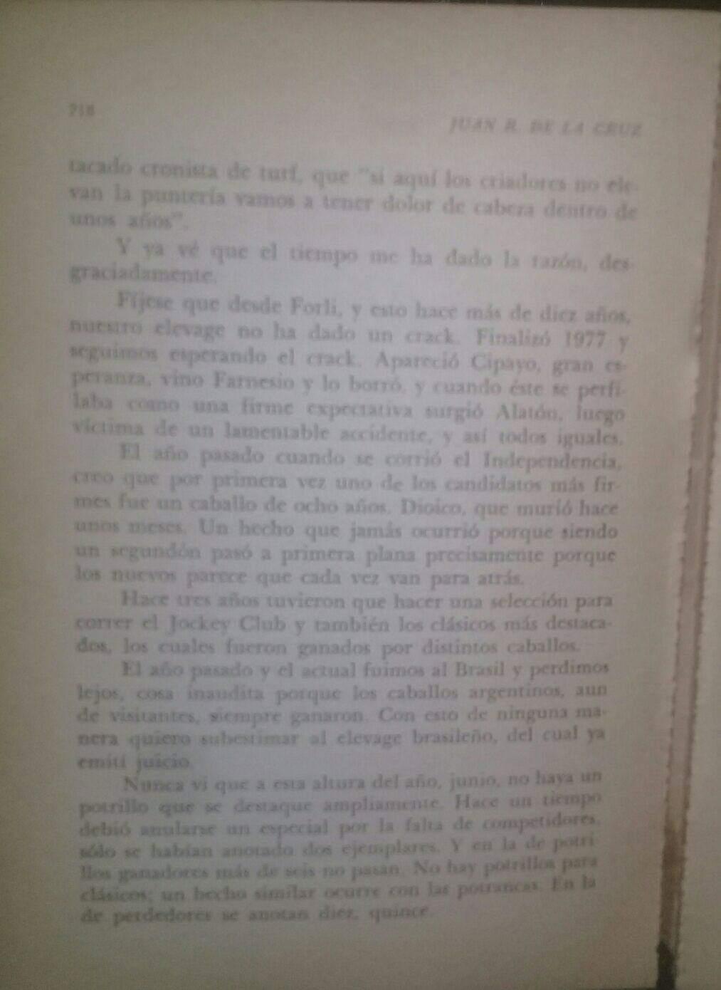 LIBRO EL TURF Y YO JUAN DE LA CRUZ 6d11