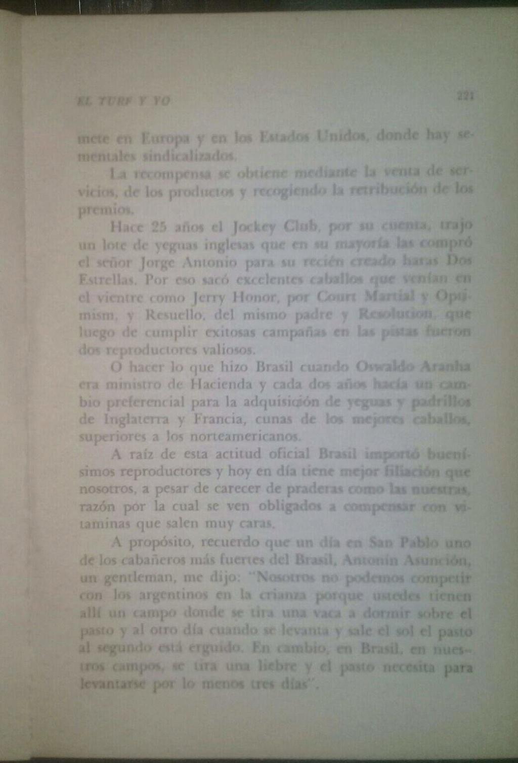 LIBRO EL TURF Y YO JUAN DE LA CRUZ 9d10
