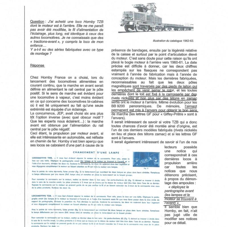 AVIS DE RECHERCHE HORNBY TZB TNB A3865110