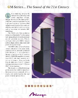 Mirage OM-8 Speaker Floorstand - price reduce Mirage12