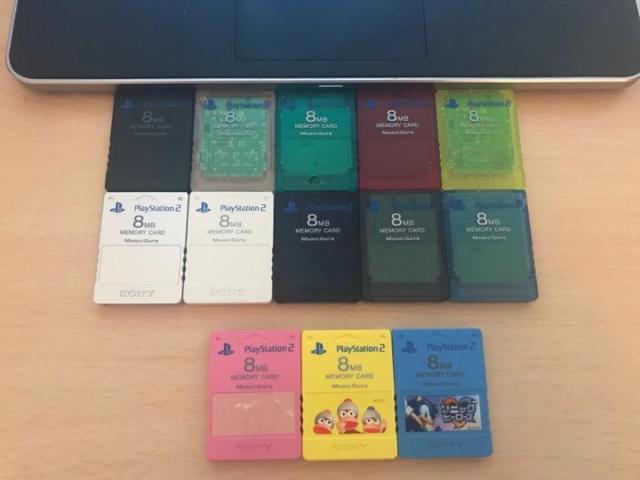 Memory Card PS2: Liste de tous les coloris ? 58462710