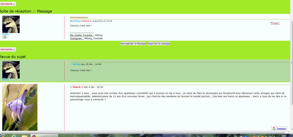 harcellement et spammeur avec menaces et insultes  70012