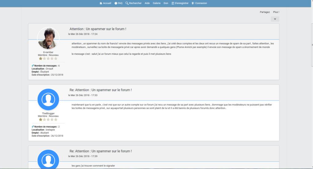 harcellement et spammeur avec menaces et insultes  Captur56