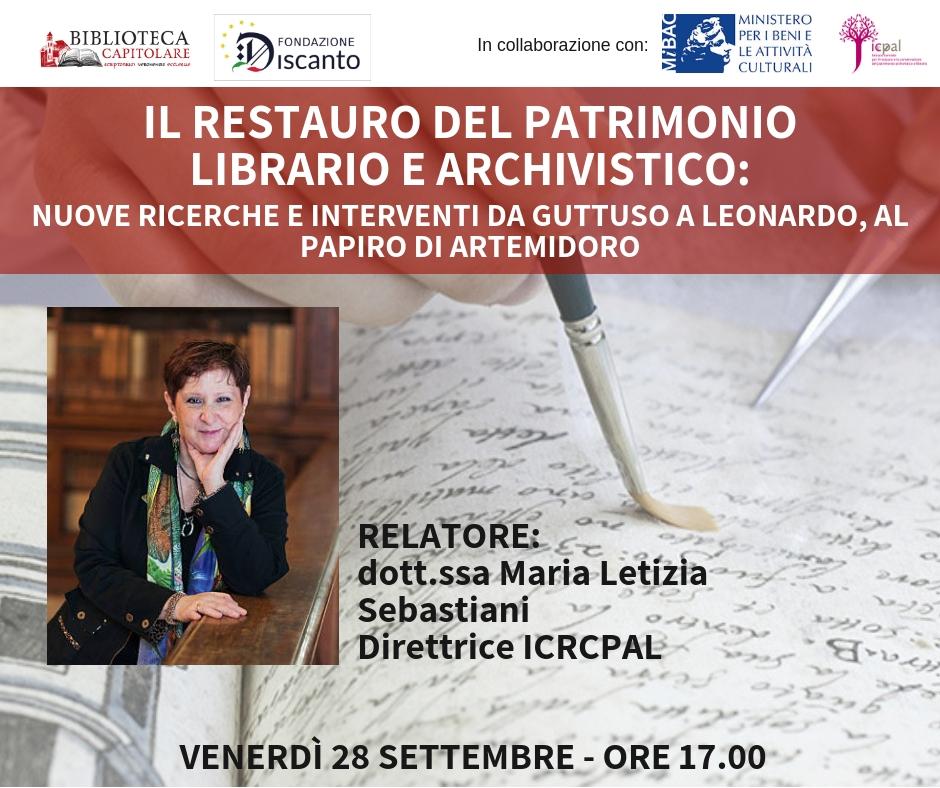 Il restauro del patrimonio librario e archivistico 28sett10