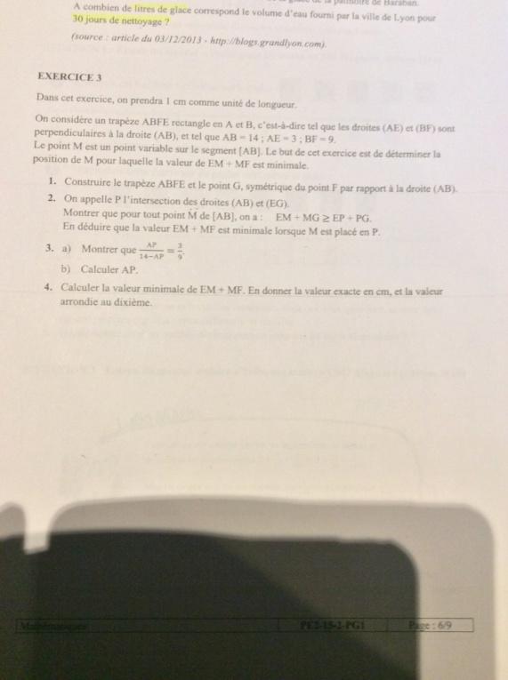 Exercice de géométrie  6950b110