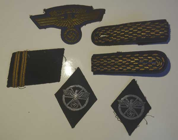 Souvenirs de guerre 2eme DB : Insignes allemands NSKK et Vichy Clot_i12