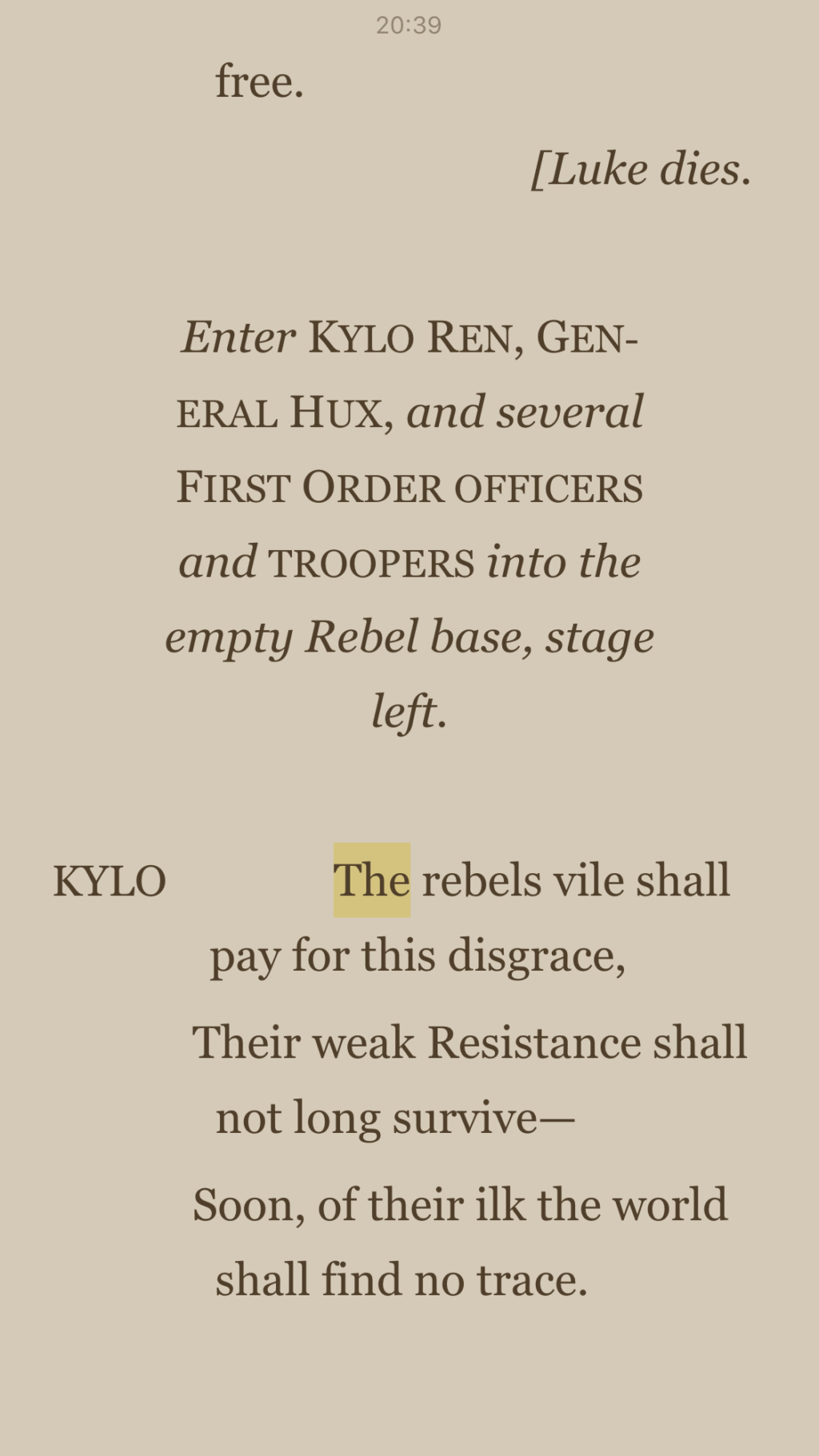 The Last Jedi and the Shakespeare Novelizations - Page 5 25c03b10