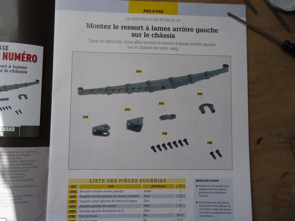 Jeep Willys MB au 1/8ème. Collection Hachette.Par Dan le Cévenol - Page 3 Dsc01095