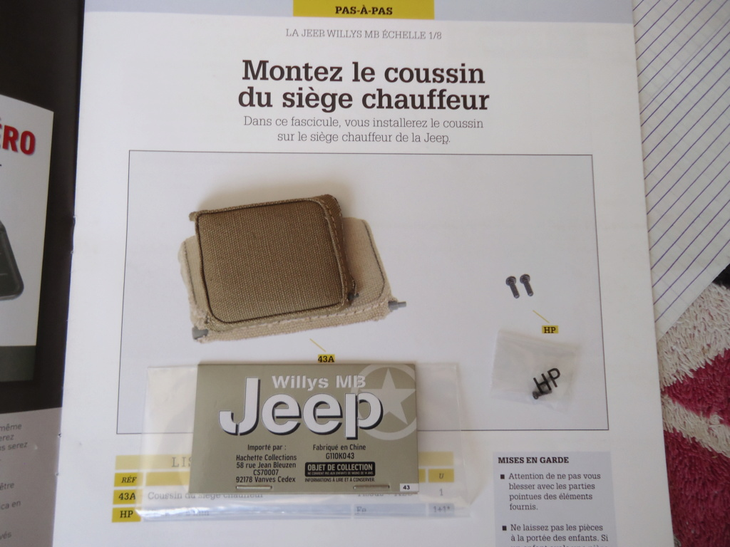 Jeep Willys MB au 1/8ème. Collection Hachette.Par Dan le Cévenol - Page 4 Dsc01283