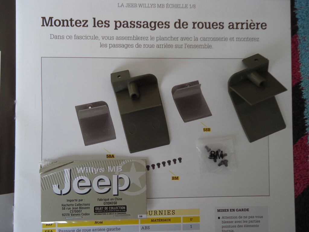 Jeep Willys MB au 1/8ème. Collection Hachette.Par Dan le Cévenol - Page 5 Dsc01342