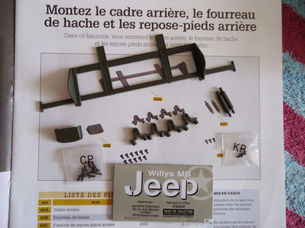 Jeep Willys MB au 1/8ème. Collection Hachette.Par Dan le Cévenol - Page 5 Dsc01349