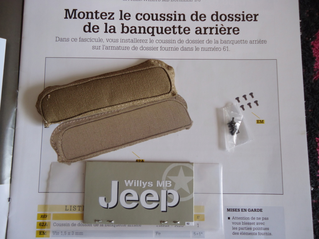 Jeep Willys MB au 1/8ème. Collection Hachette.Par Dan le Cévenol - Page 5 Dsc01357