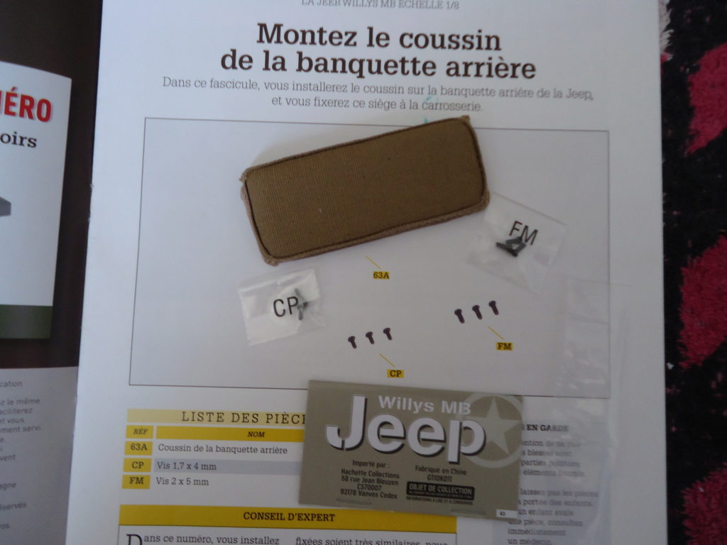 Jeep Willys MB au 1/8ème. Collection Hachette.Par Dan le Cévenol - Page 5 Dsc01360