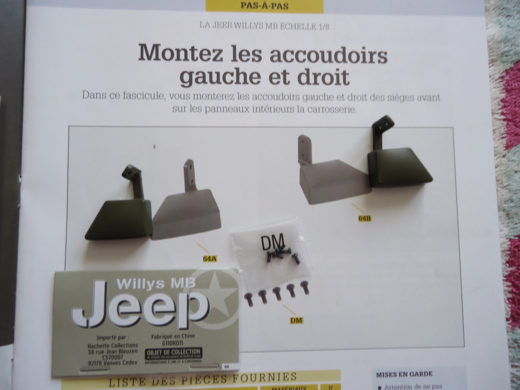 Jeep Willys MB au 1/8ème. Collection Hachette.Par Dan le Cévenol - Page 5 Dsc01364