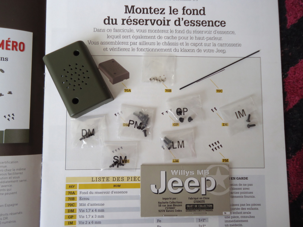 Jeep Willys MB au 1/8ème. Collection Hachette.Par Dan le Cévenol - Page 6 Dsc01383