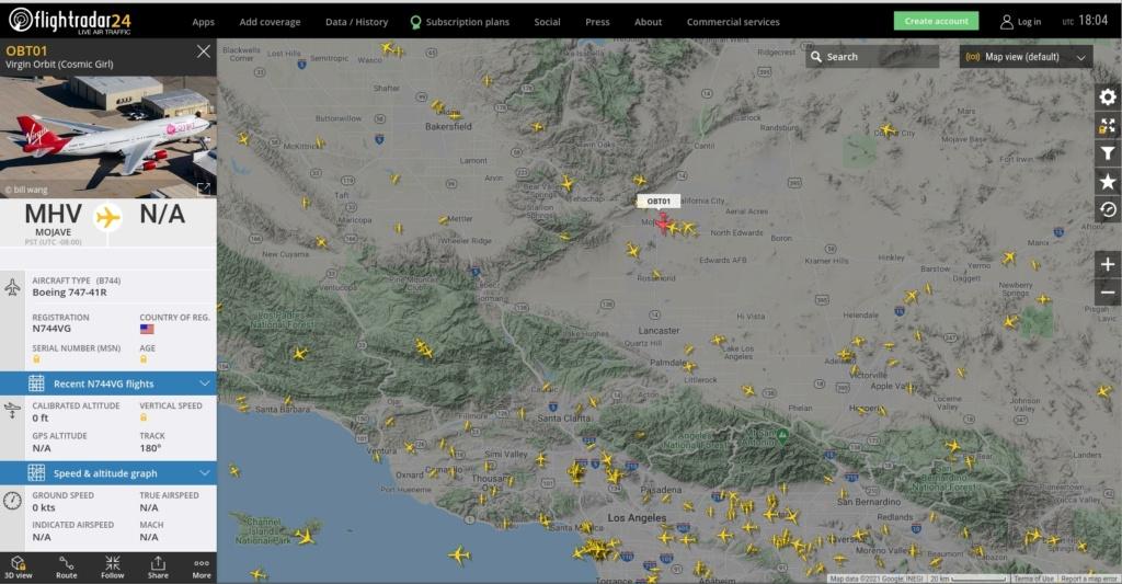 [Virgin Orbit] LauncherOne Demo-2 (ELaNa 20) - 17.1.2021 Flight11