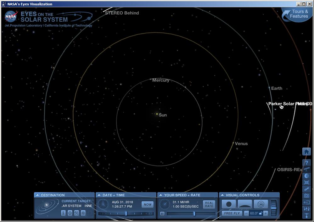 Parker Solar Probe - Mission en orbite héliocentrique Parker12