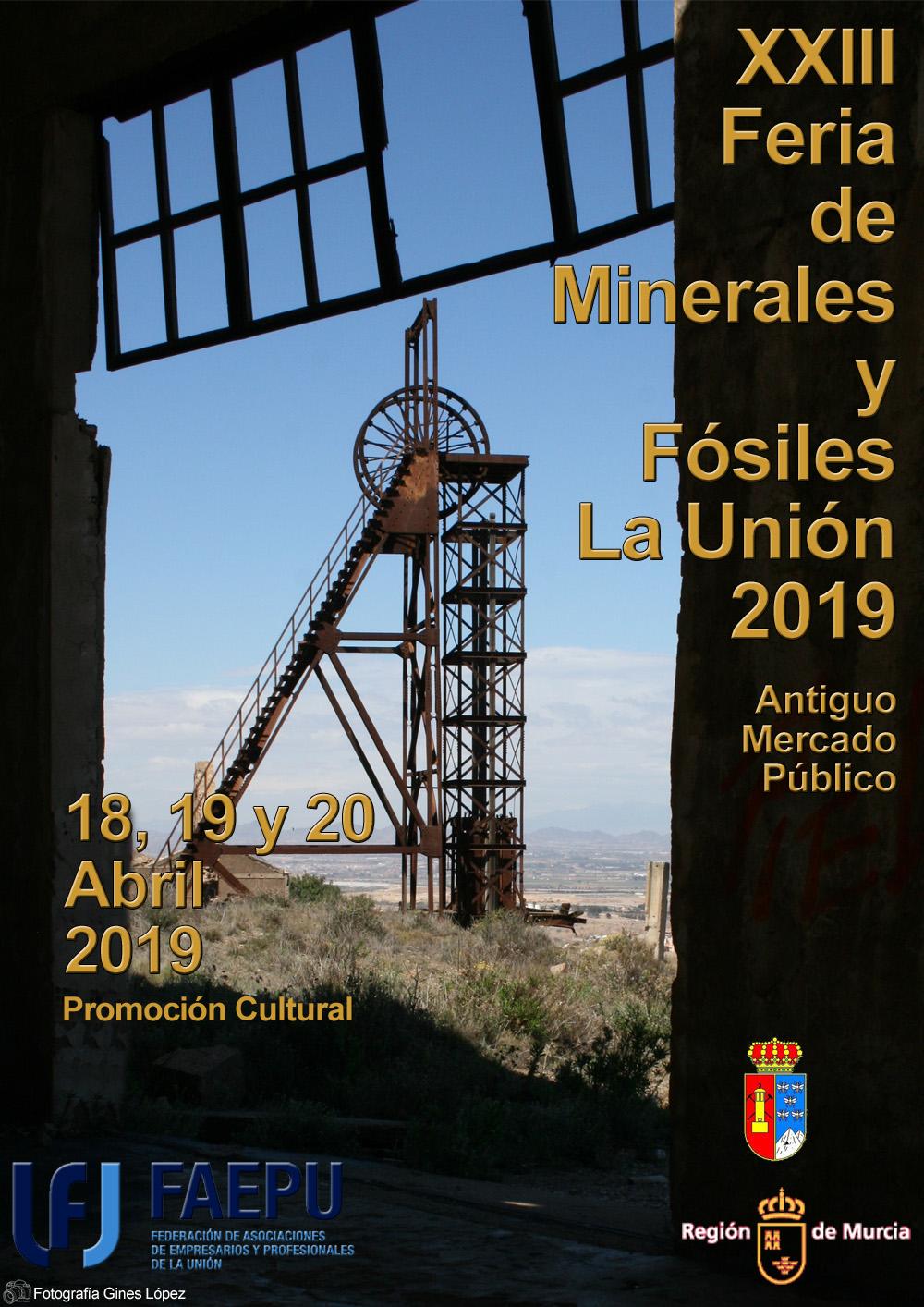 XXIII Feria de Minerales y Fósiles de la Unión Cartel10