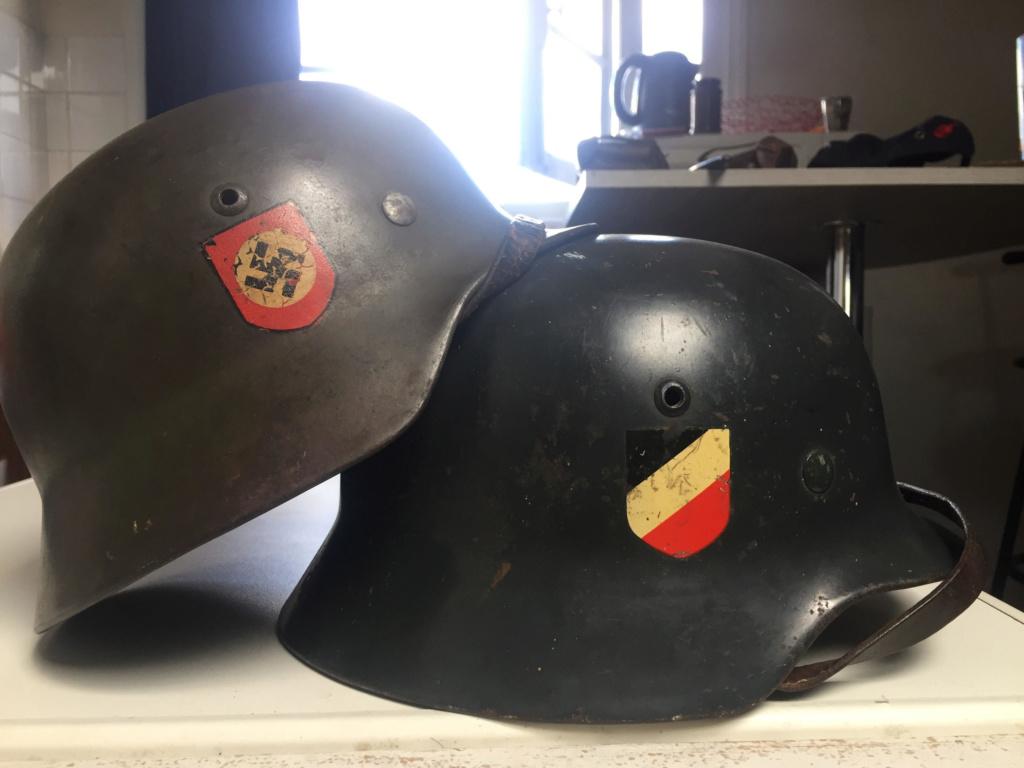 Cas d'école de casque allemand reconditionné. P110