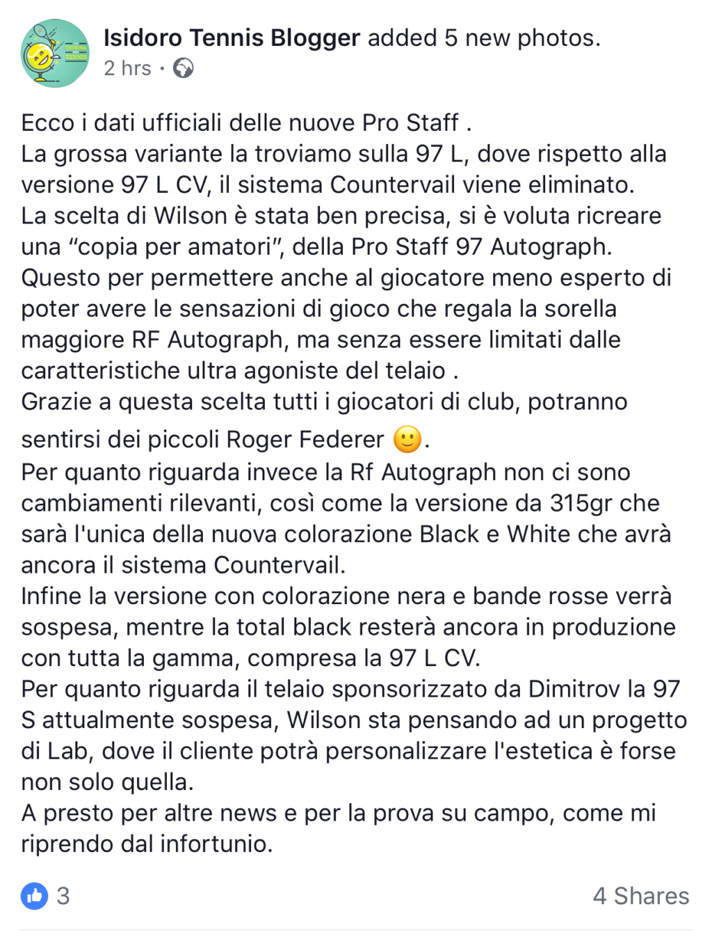 Nuova pro staf bianco/nera di Roger 72bbbb10