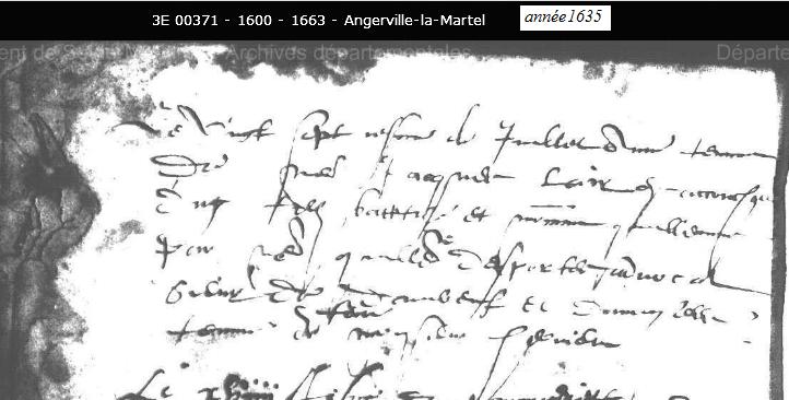 1635, Angerville la Martel, ° de Guillaume Lair 1110_b10