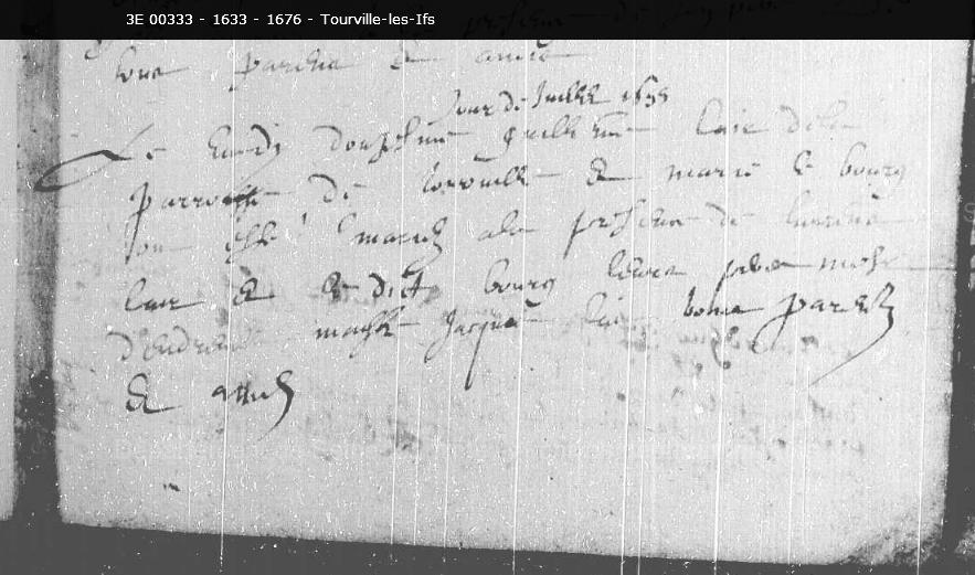 1655, Tourville les Ifs, mariage G. Lair & M. Lebourg 1110_m10