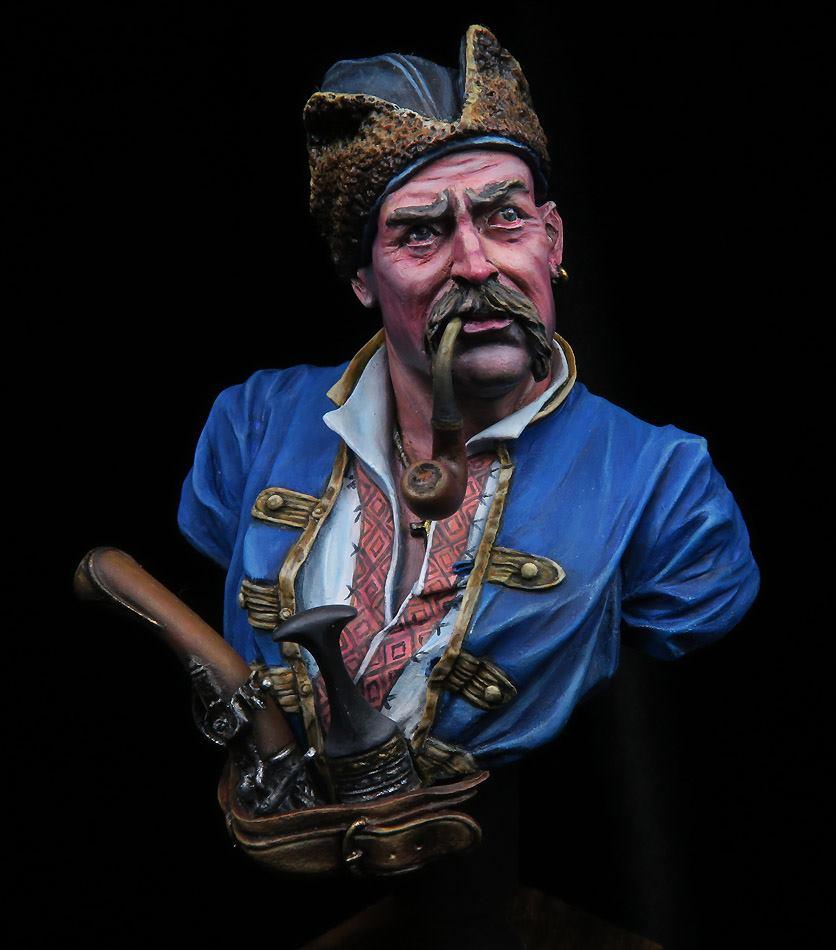 Buste d'un Cossack au 17 ème siècle . 75446710