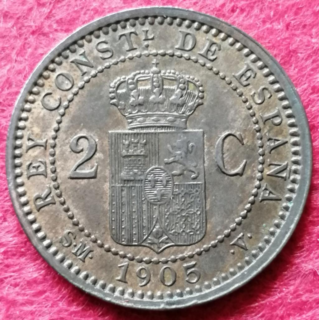 2 Céntimos 1905 (*05). Alfonso XIII. SM V  2_czon11