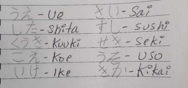 *CLASE 6* Hiragana filas K y S (puedes ganar PS) _2019018