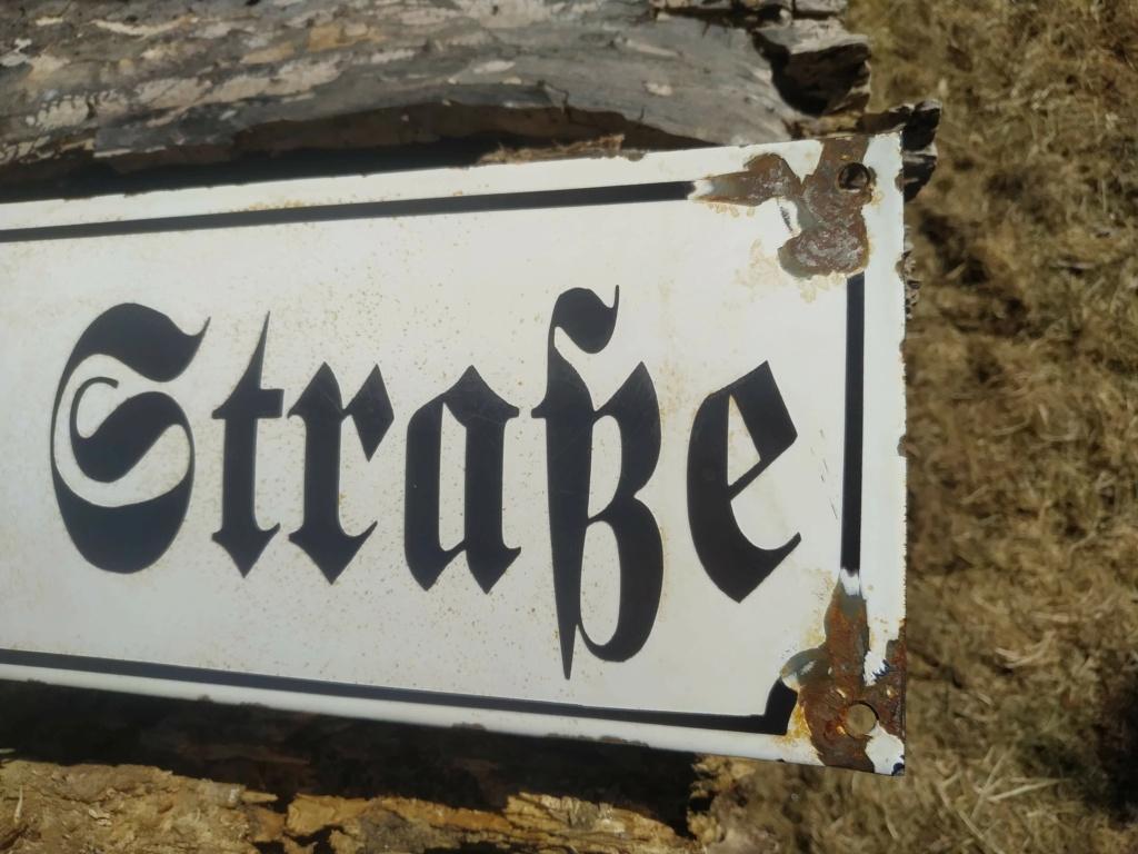 Identification Plaque de rue Allemande.  Recei179