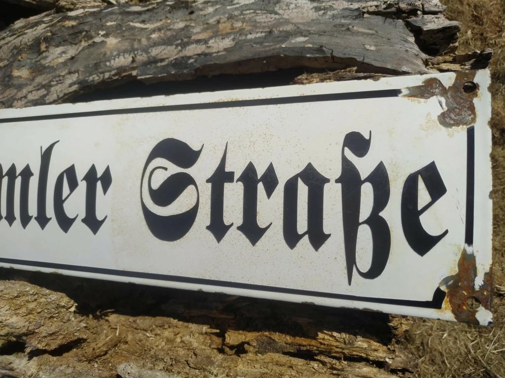 Identification Plaque de rue Allemande.  Recei181