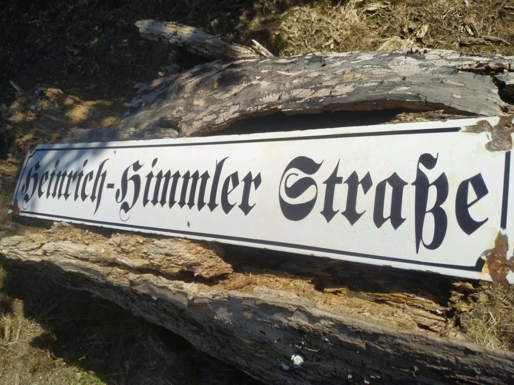 Identification Plaque de rue Allemande.  Recei182