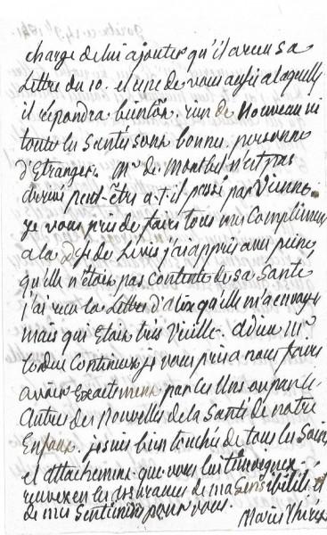 Ecrits de Marie Thérèse Charlotte, Madame Royale 1583-311