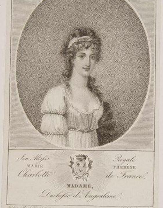 Ecrits de Marie Thérèse Charlotte, Madame Royale Zzzz10