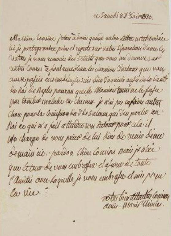 Ecrits de Marie Thérèse Charlotte, Madame Royale Zzzz215