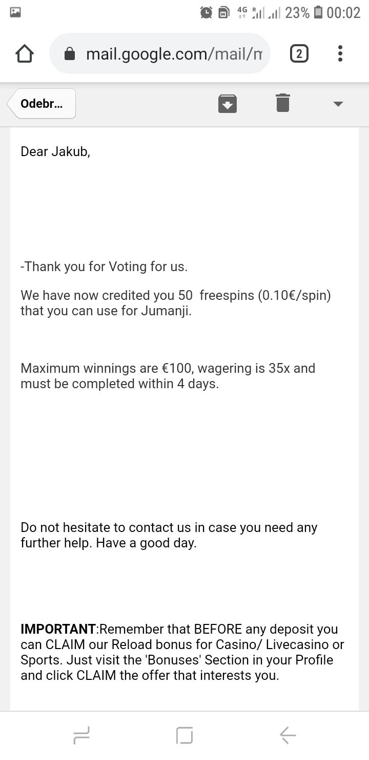 Campeonbet 5 EUR dla nowych użytkowników - Page 8 Screen26