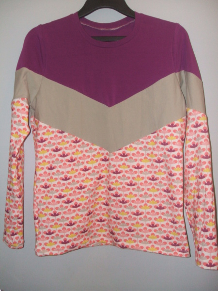 Tee-shirt  patchwork  Dscf4428