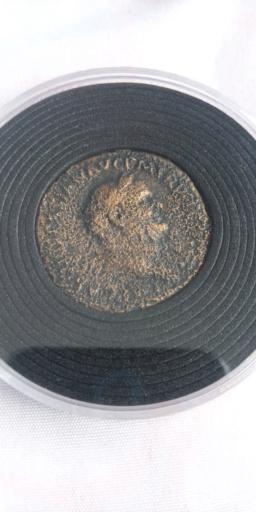 Sestercio de Vespasiano. SC. Marte a dcha. Roma 20200611